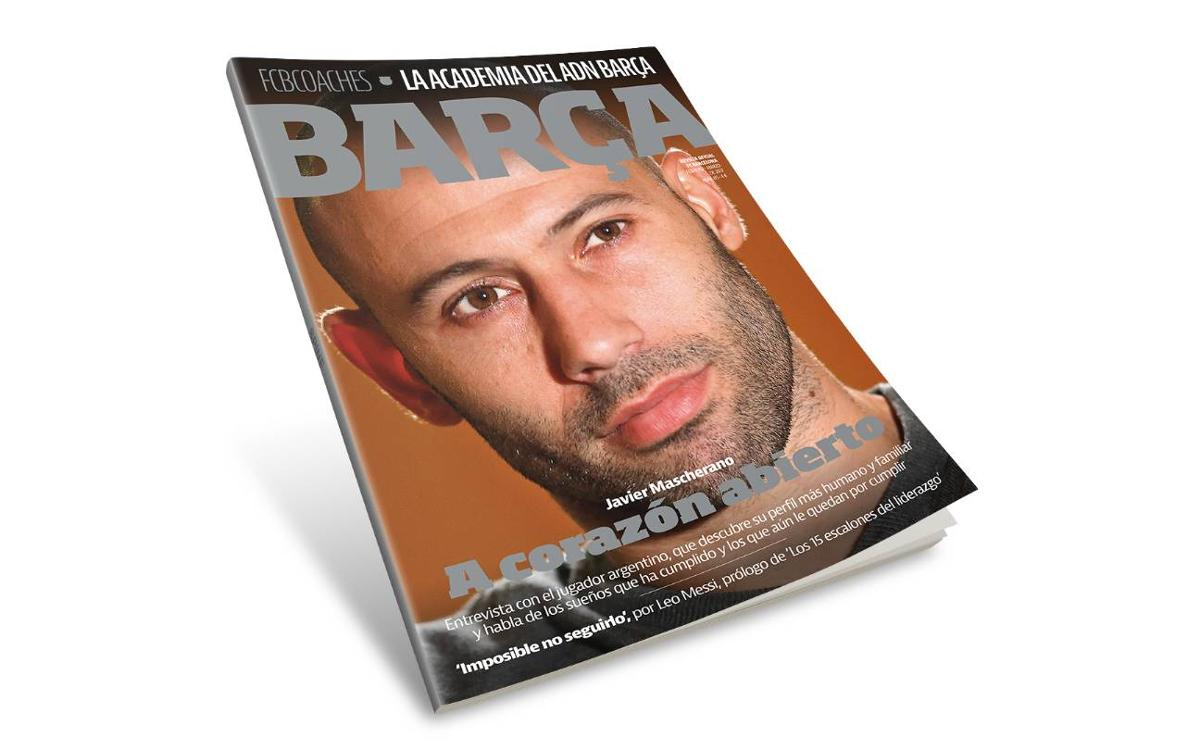 Javier Mascherano, protagonista de la 'Revista Barça'