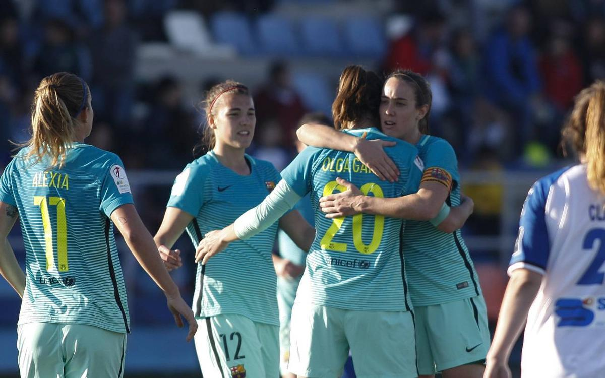Zaragoza CFF - Barça Femenino: Festival ofensivo en un campo complicado (0-6)