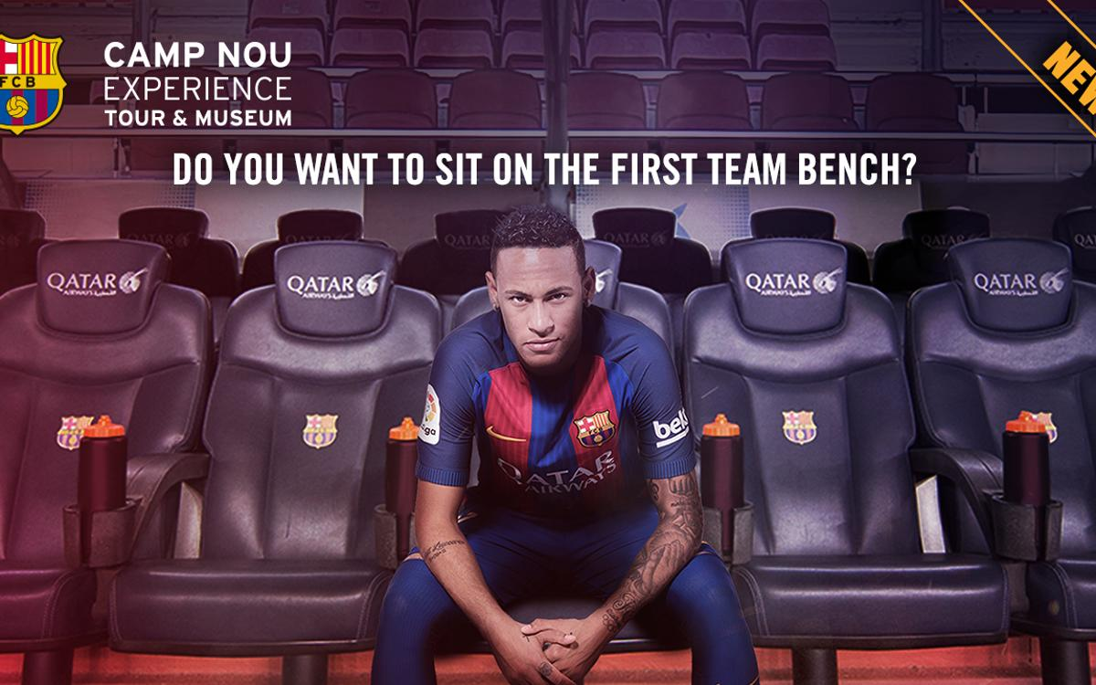 How does it feel to sit on the Camp Nou bench?