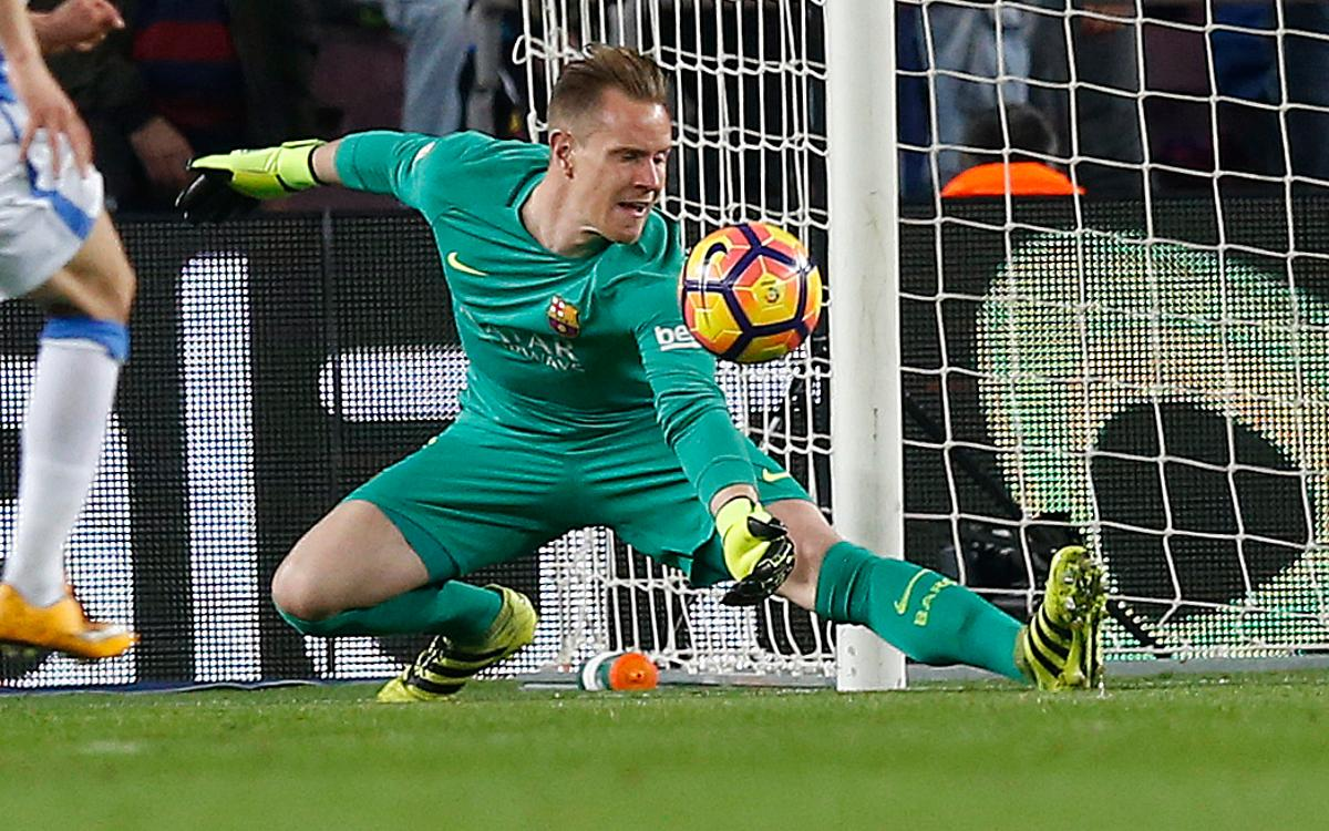 VIDEO: Ter Stegen saves the day against Leganés