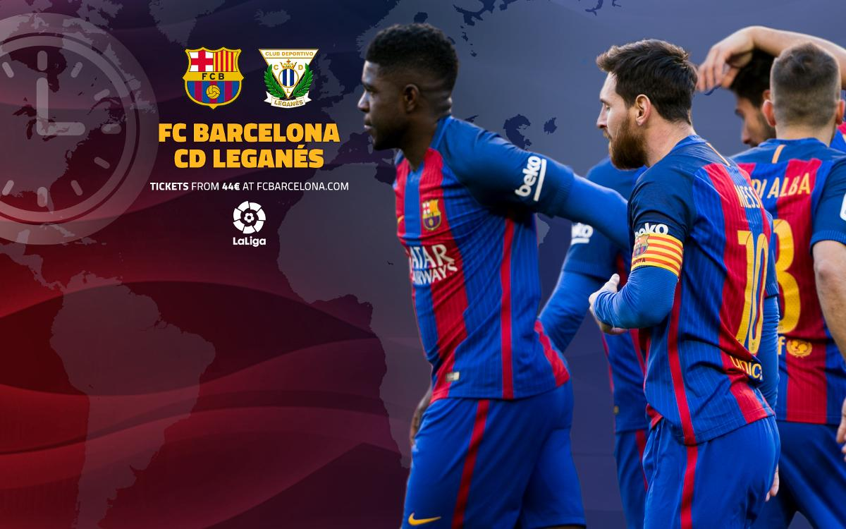 When and where to watch FC Barcelona v Leganés