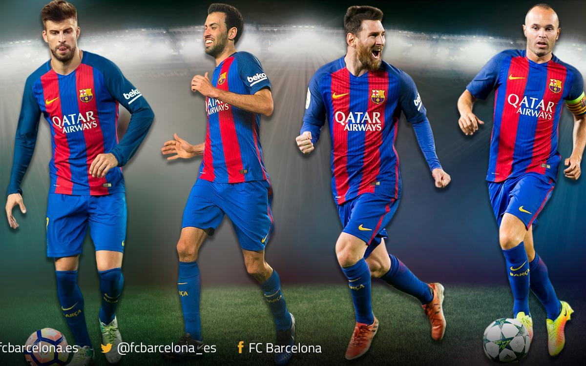 Piqué, Sergio, Messi e Iniesta, los jugadores con más finales de Copa de la historia del Club