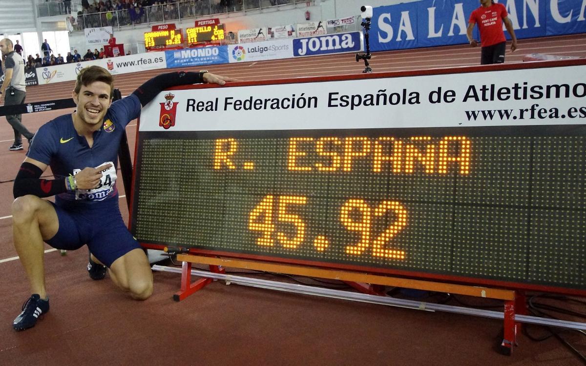 Óscar Husillos se proclama campeón de España de los 400 metros lisos estableciendo un nuevo récord
