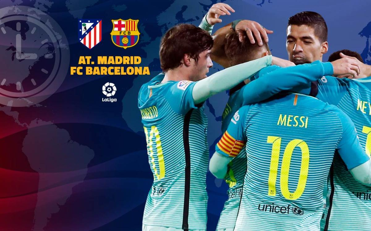 When and where to watch Atlético Madrid v FC Barcelona at the Vicente Calderón