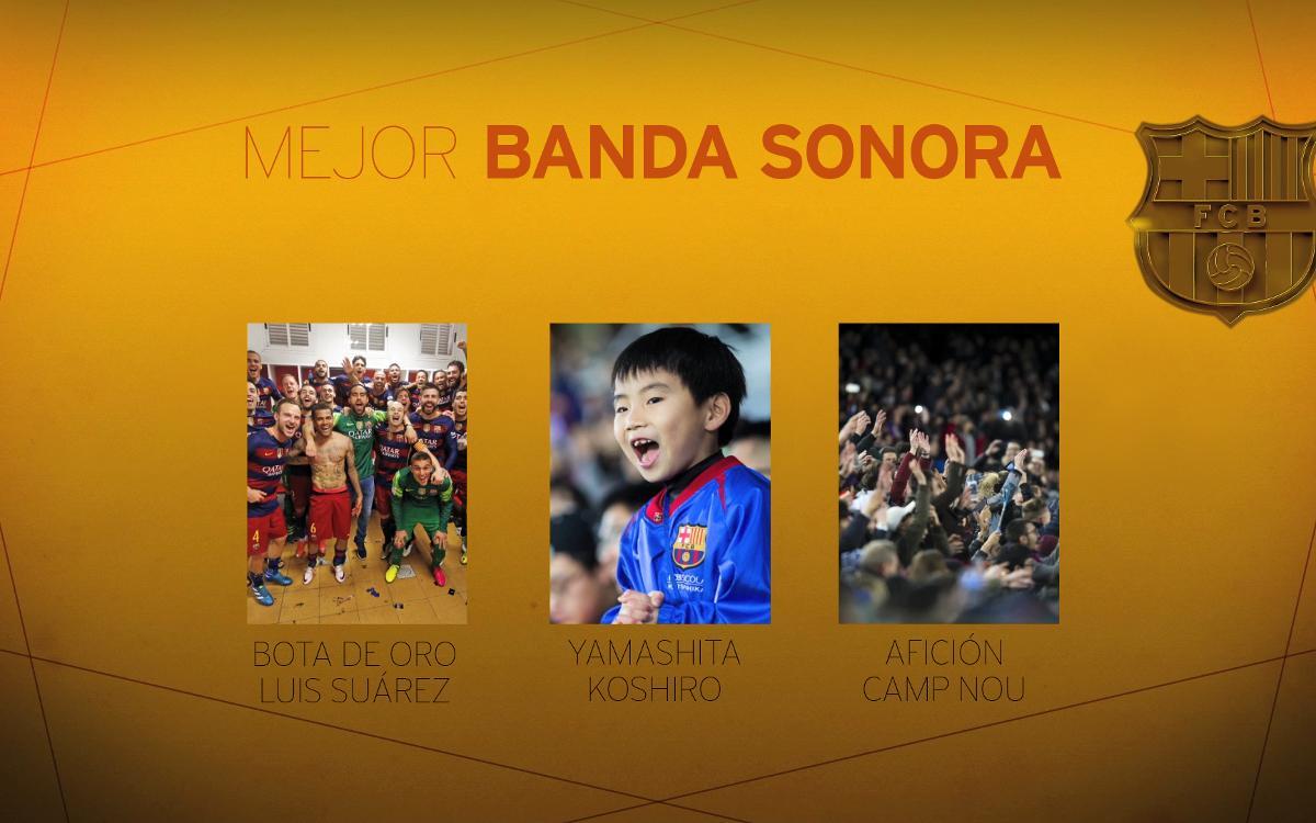 Última categoría de los Oscars azulgrana: 'Mejor Banda Sonora'