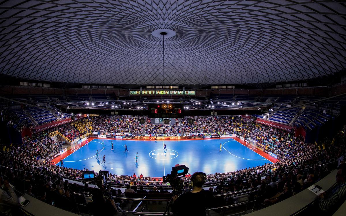 El Palau Blaugrana, seu de la Copa Catalunya 2018 de futbol sala