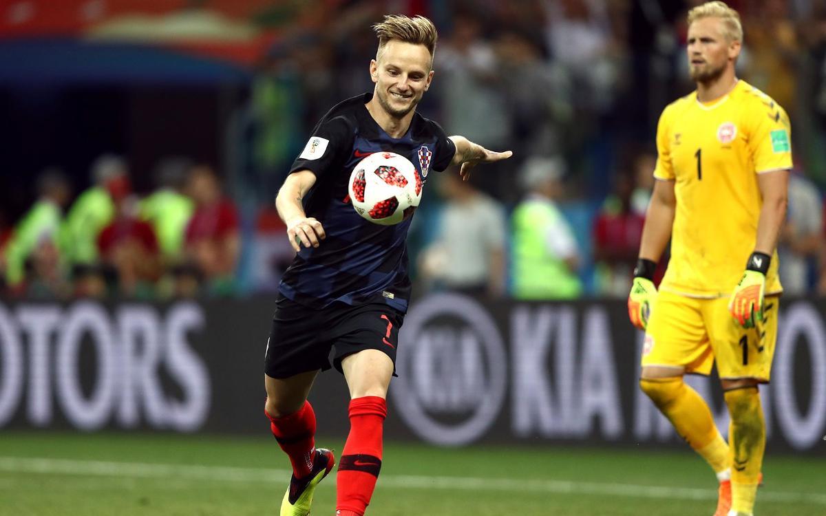 Rakitic anota el penal decisiu per classificar Croàcia per als quarts de final
