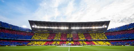 Fans at the Camp Nou