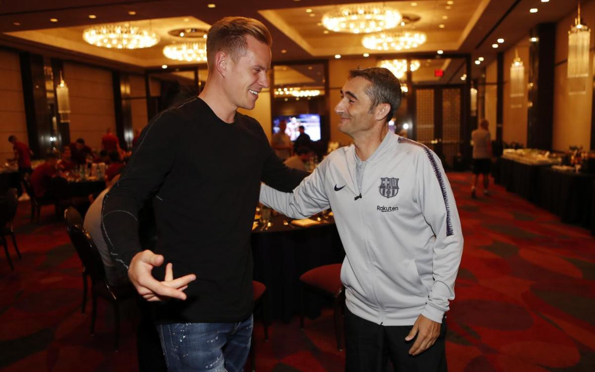 Ter Stegen joins team in Dallas