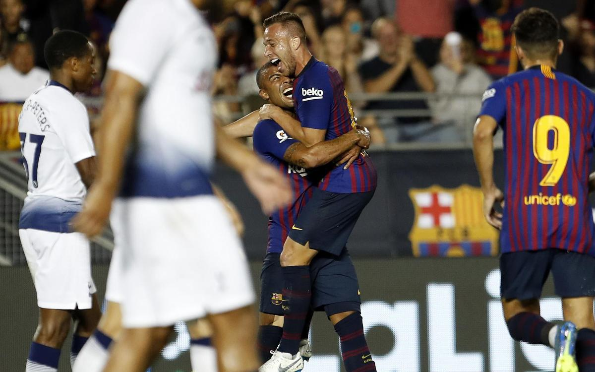 Arthur's dream debut with FC Barcelona
