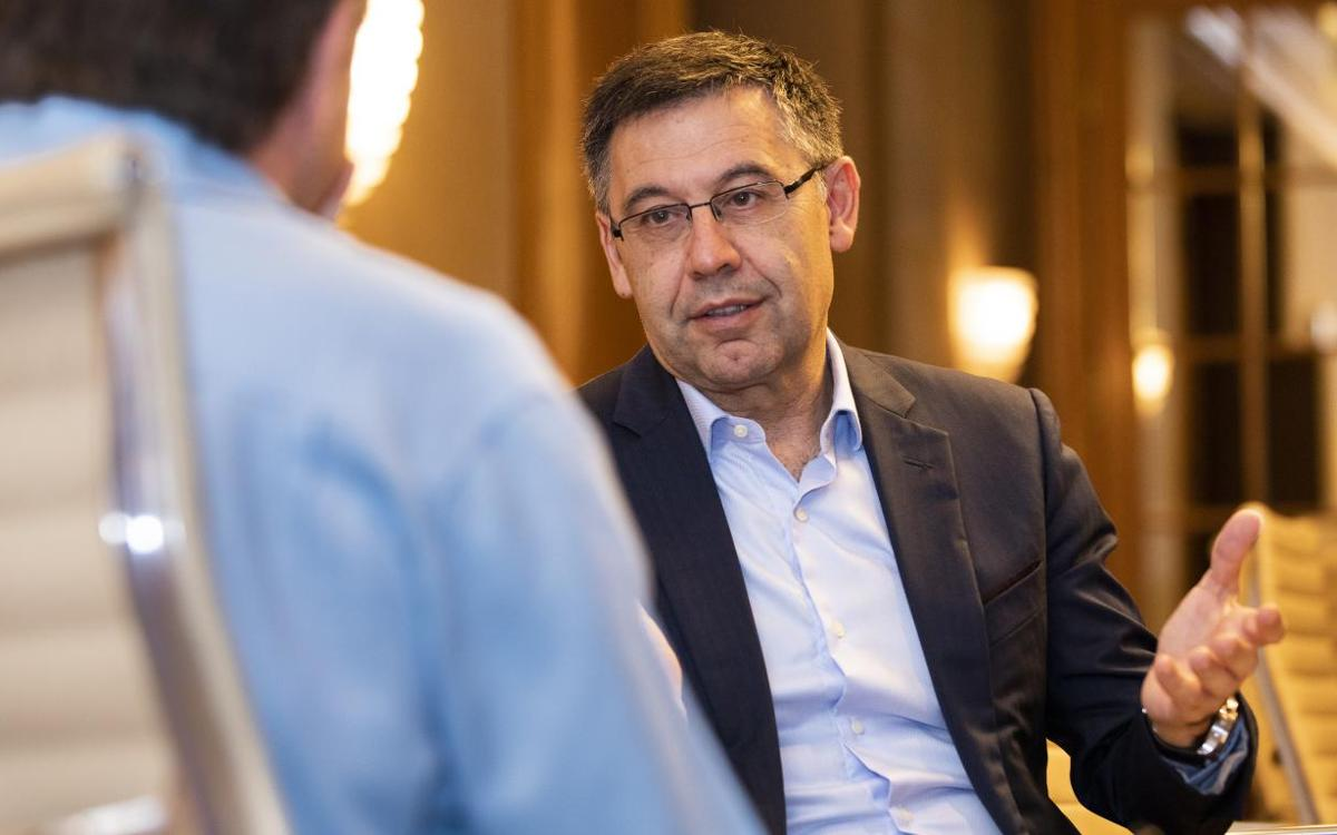 President Bartomeu speaks to the US news media