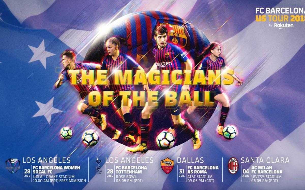 La primera gira mixta de la història del Barça