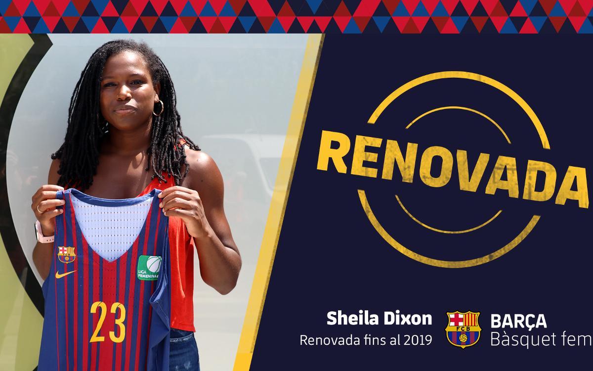 Sheila Dixon seguirá con el Barça CBS una temporada más