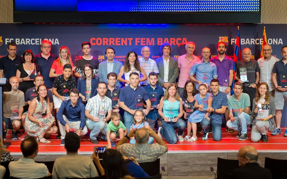 La lliga 'Corrent Fem Barça' tanca la temporada amb l'entrega de premis