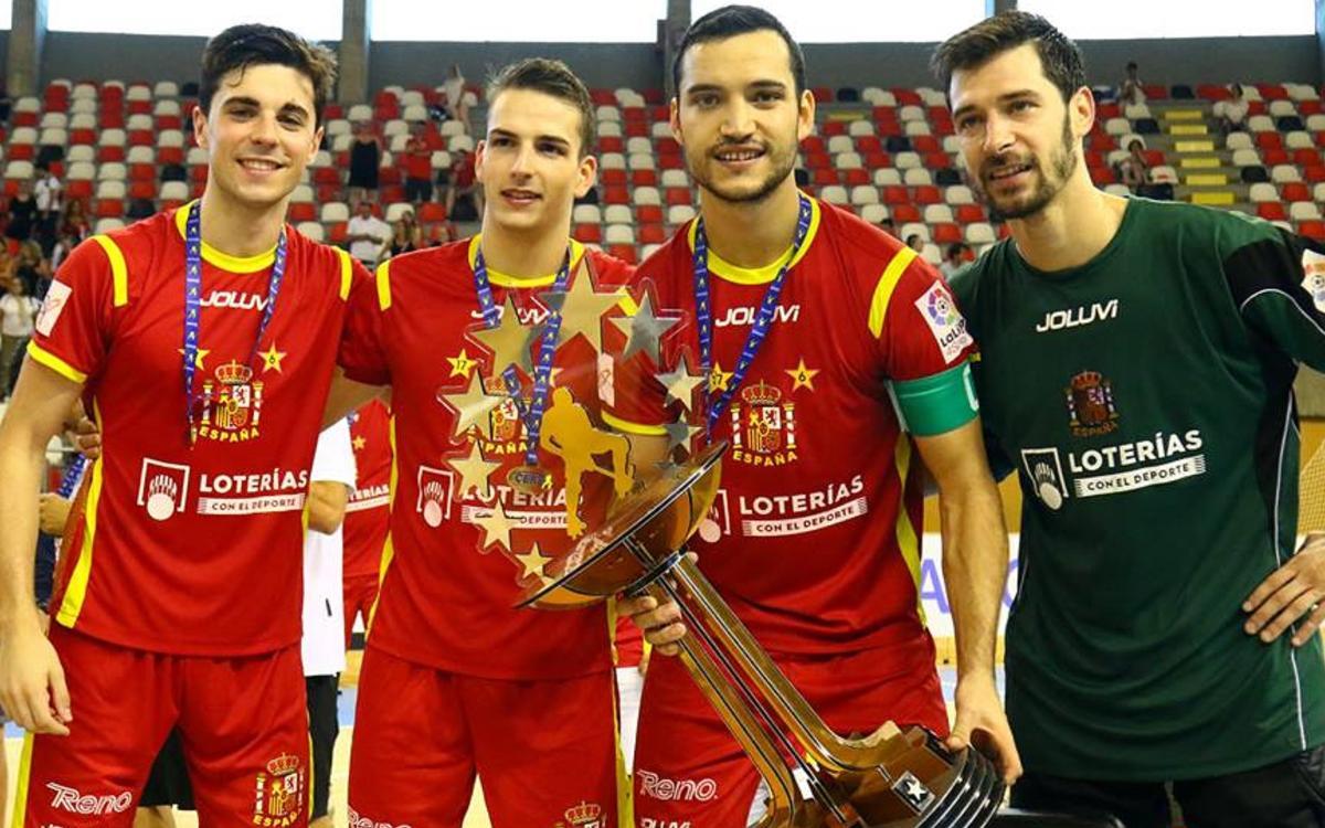 ¡Ignacio Alabart, Nil Roca, Pau Bargalló y Sergi Fernández, campeones de Europa!