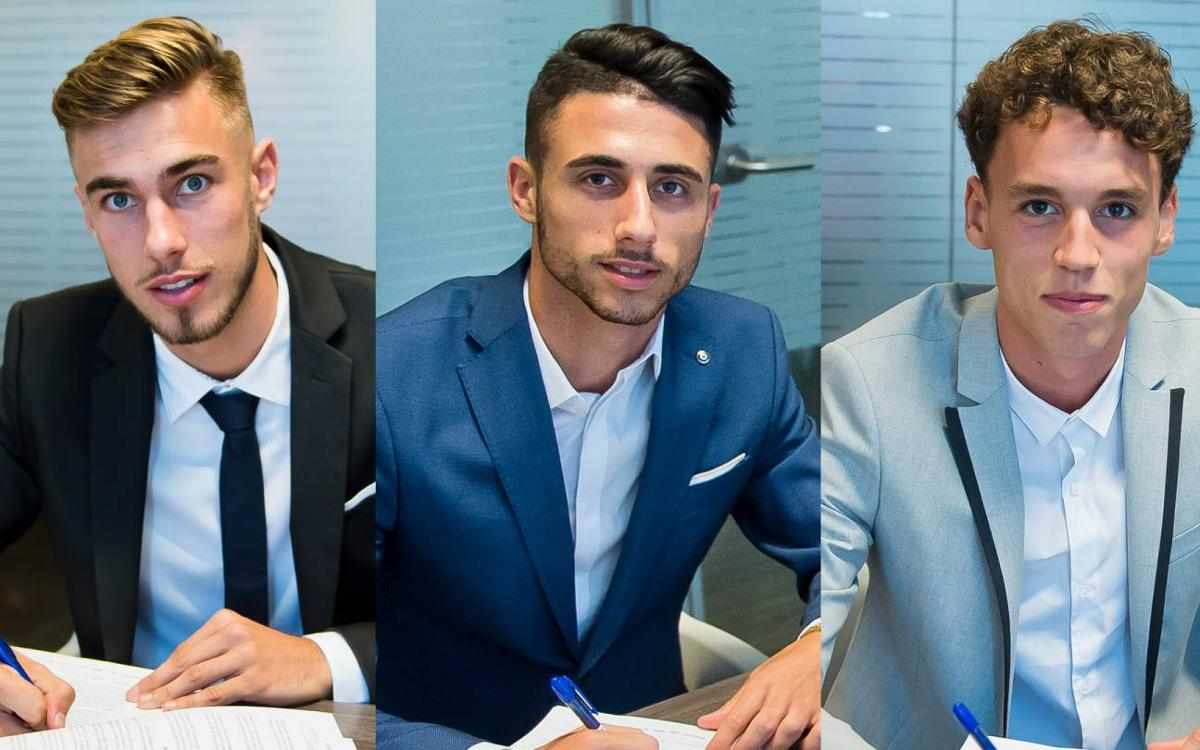 Three more contract renewals for Barça B