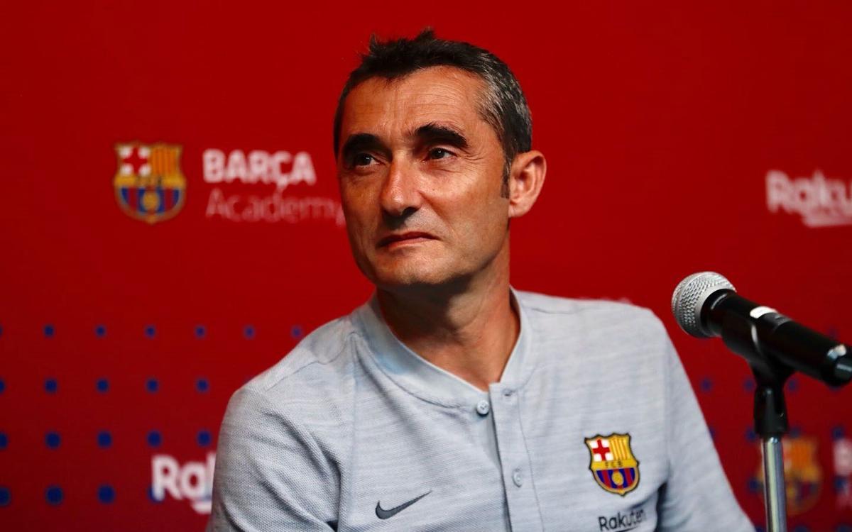"""Valverde: """"La exigencia en el Barça es ganarlo todo"""