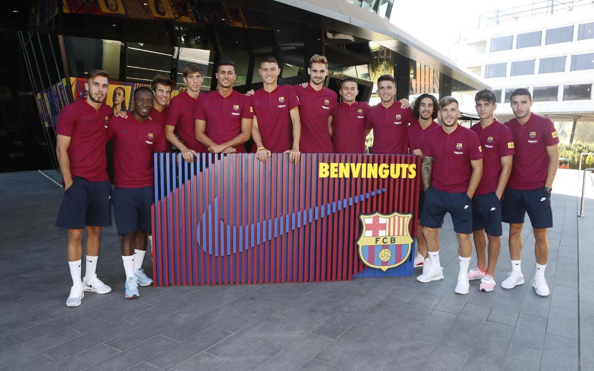 The Barça B players on the U.S. tour