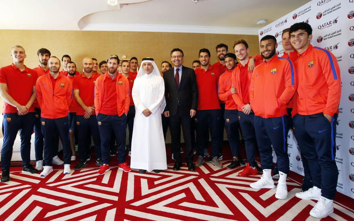 Doha goes head over heels for FC Barcelona