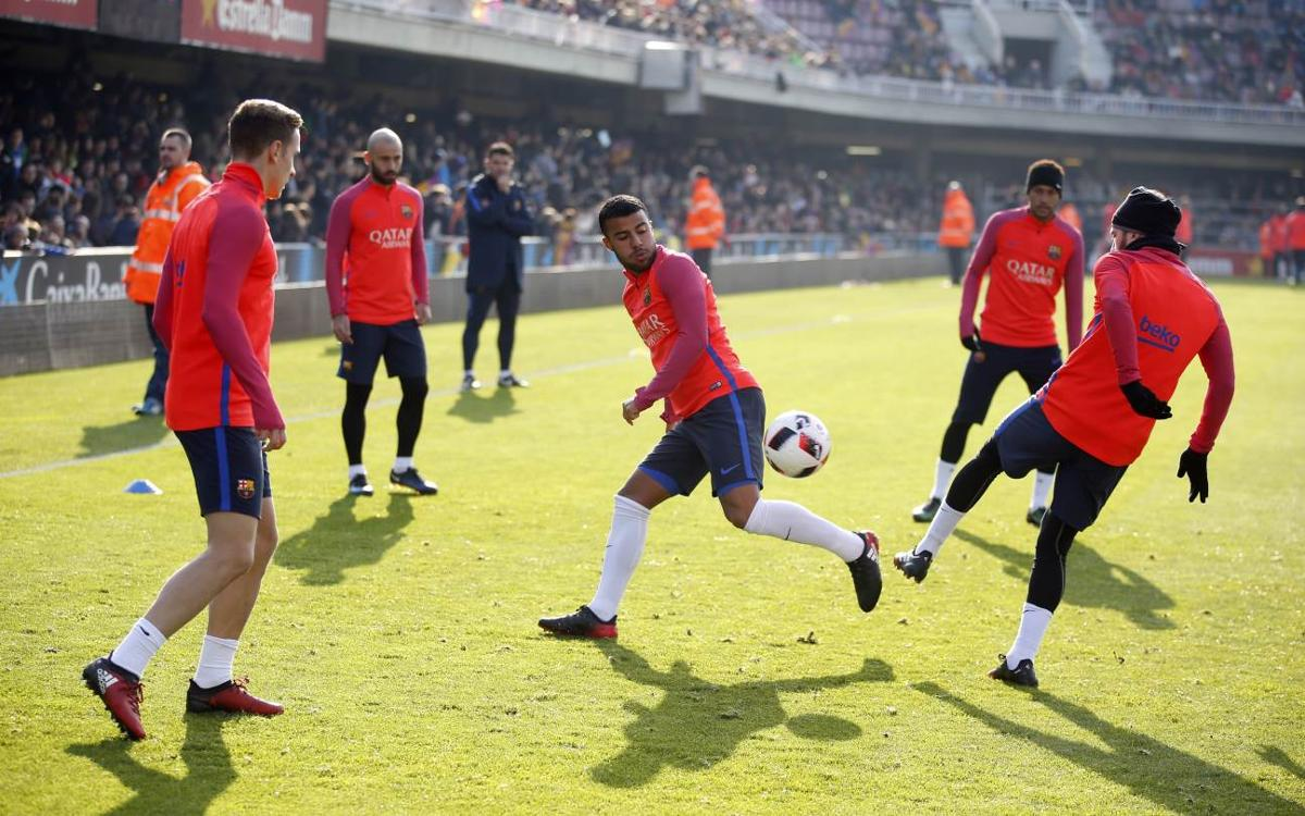 Inside view: FC Barcelona's most extraordinary training session of the year