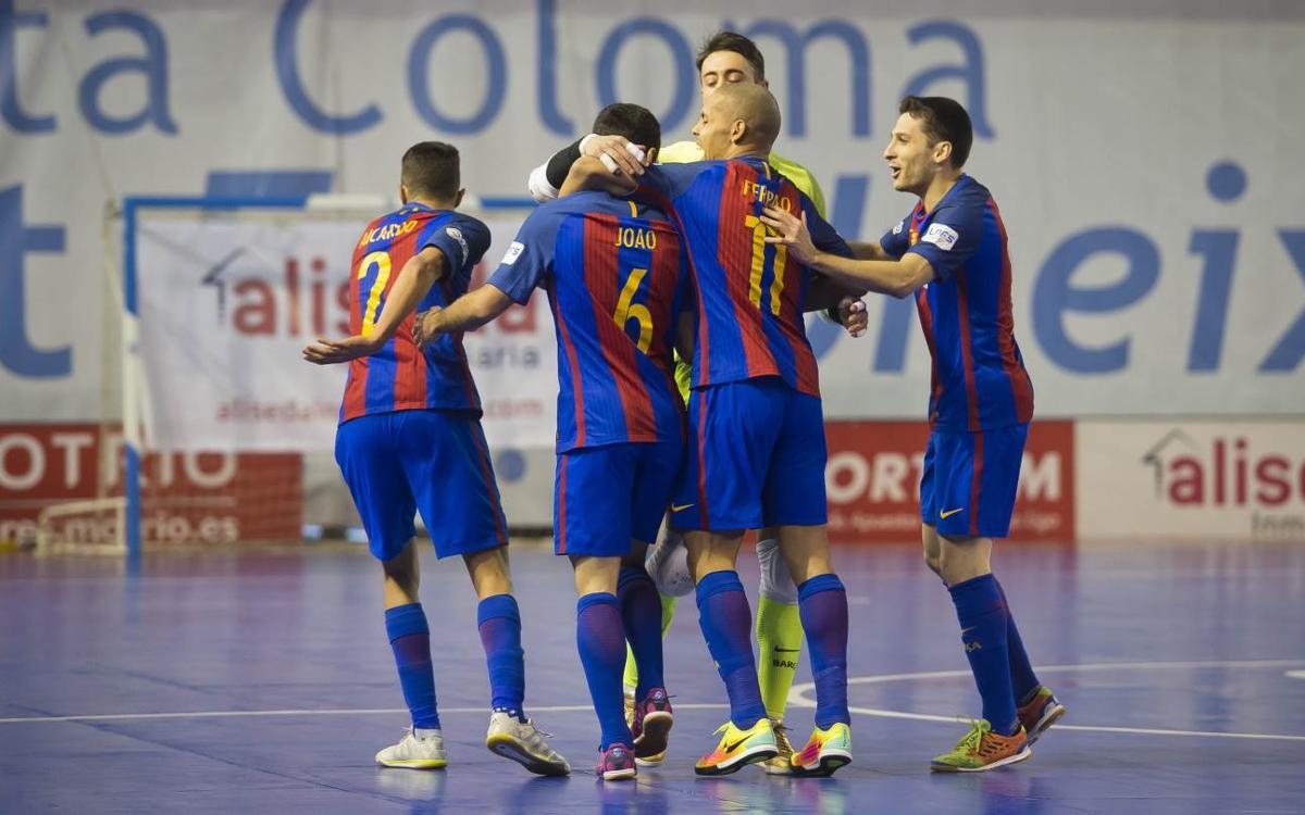 Catgas Energía Santa Coloma - FC Barcelona Lassa: El líder se lleva un derbi vibrante (3-4)