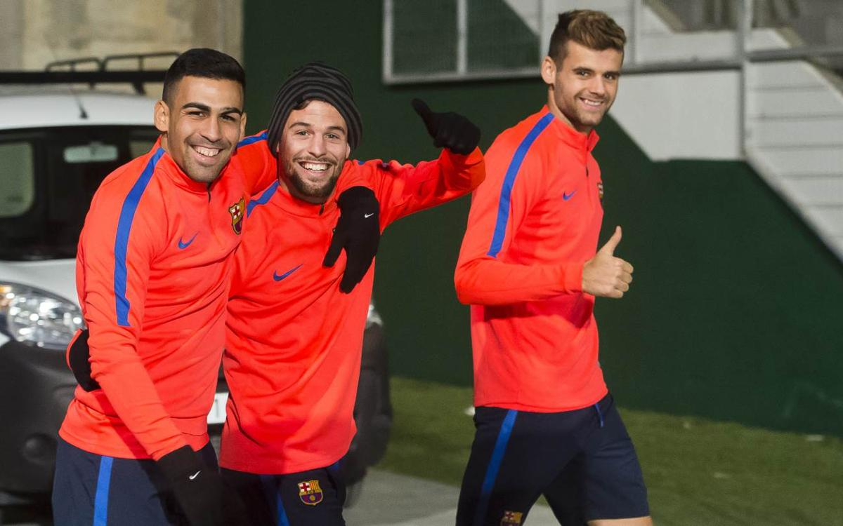 El Barça B ya ha vuelto al trabajo