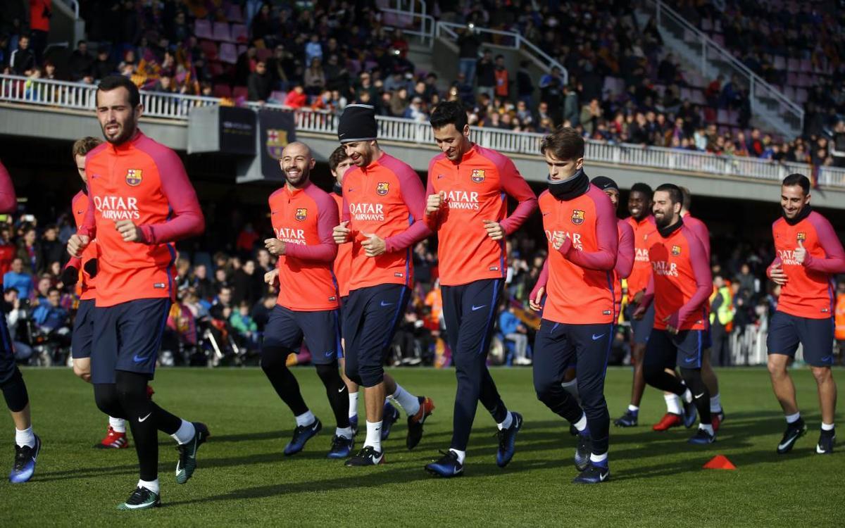 Preparación festiva para la Copa del Rey