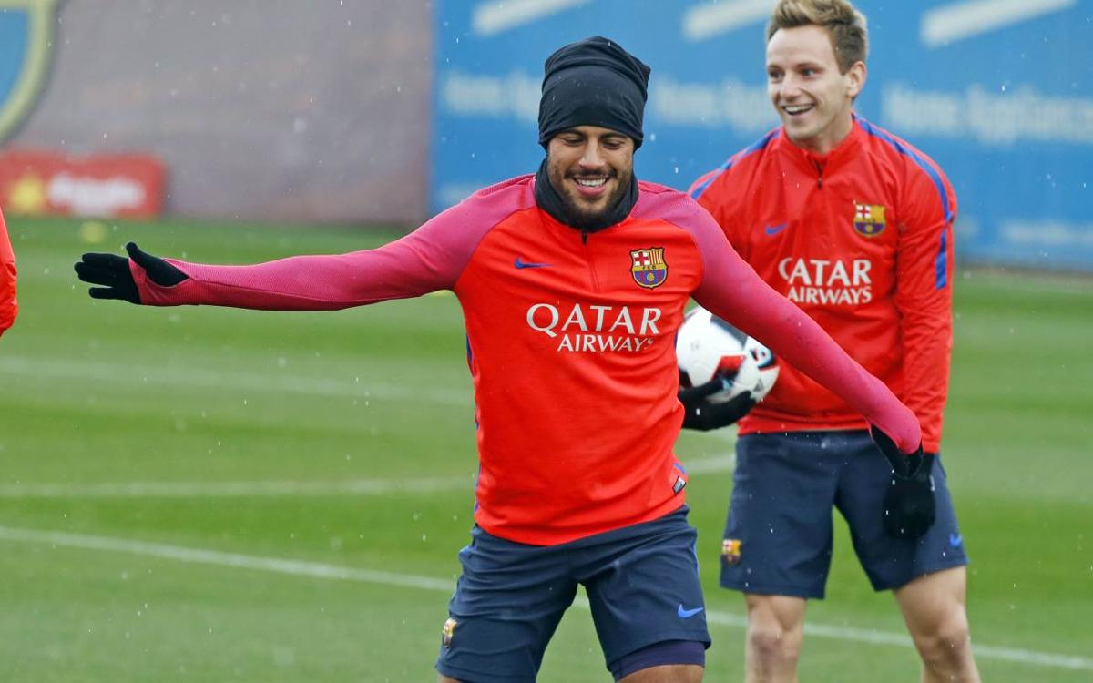 Final session before the Copa del Rey game