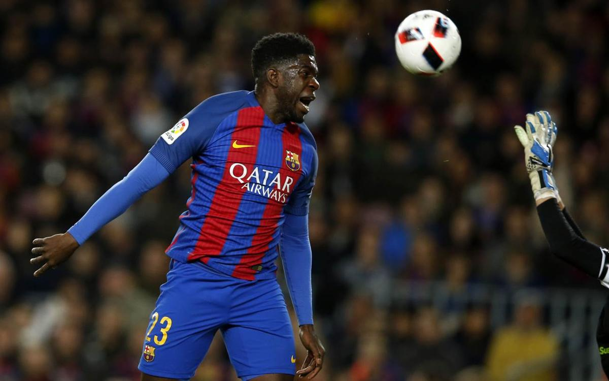 Umtiti and Sergi Roberto, in the UEFA Champions League breakthrough team of the year