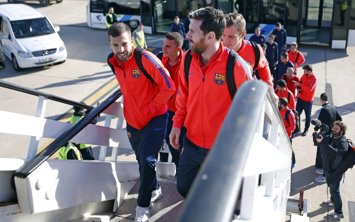 Así ha sido el viaje del Barça a Doha