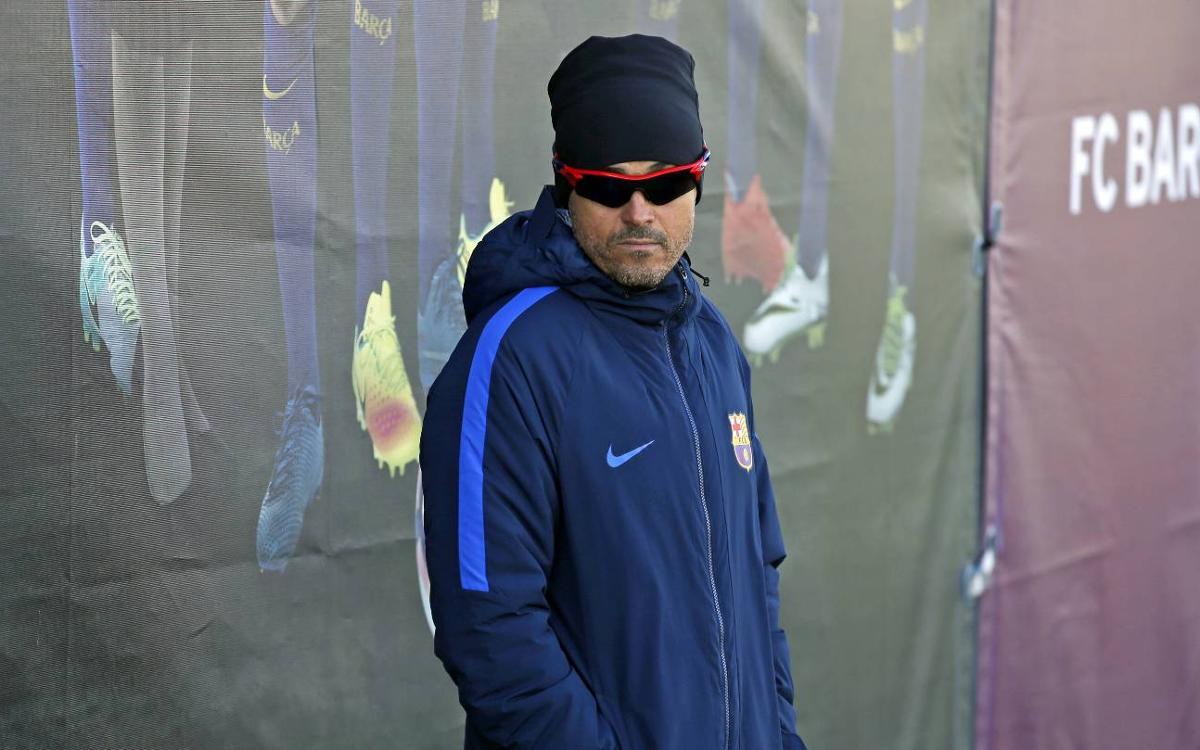 """Luis Enrique: """"Ens enfrontem a un equip amb una filosofia semblant a la nostra"""""""