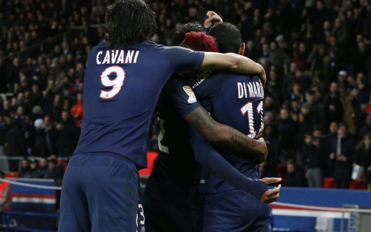 El PSG vence a la Liga Francesa gracias a dos goles de Cavani (0-2)