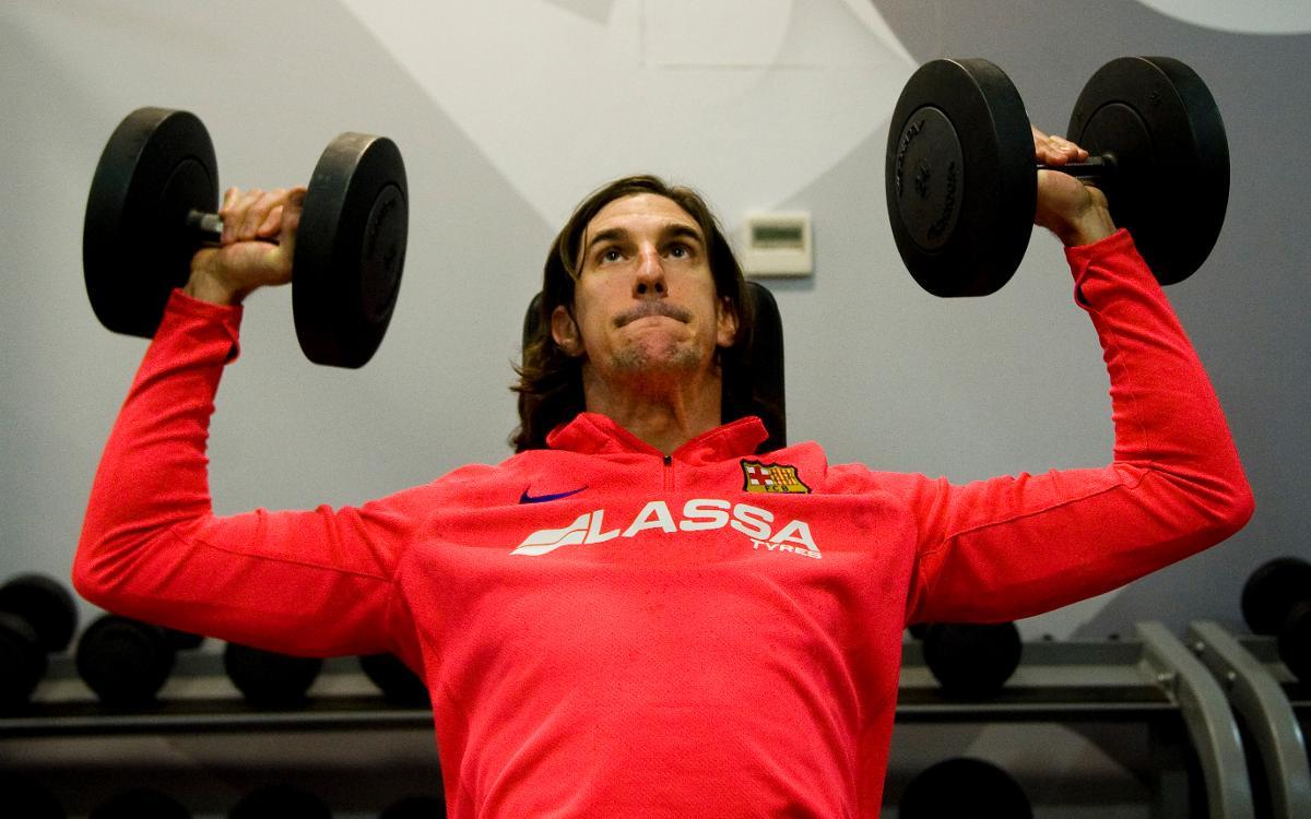 Los internacionales del Barça Lassa vuelven a entrenar