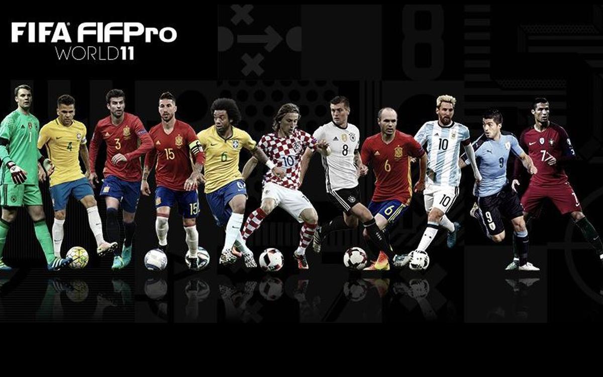 Piqué, Iniesta, Suárez i Messi, en l'onze ideal de la FIFA
