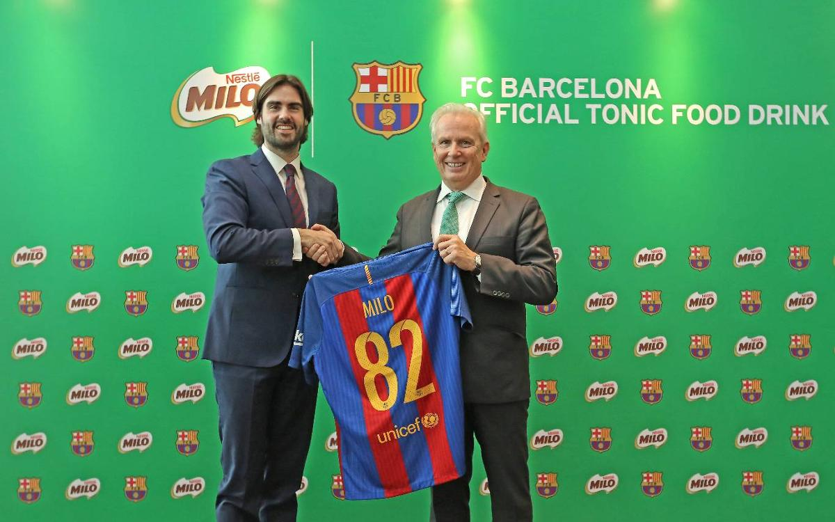 FC Barcelona and Nestlé MILO join forces to promote a healthier lifestyle for children