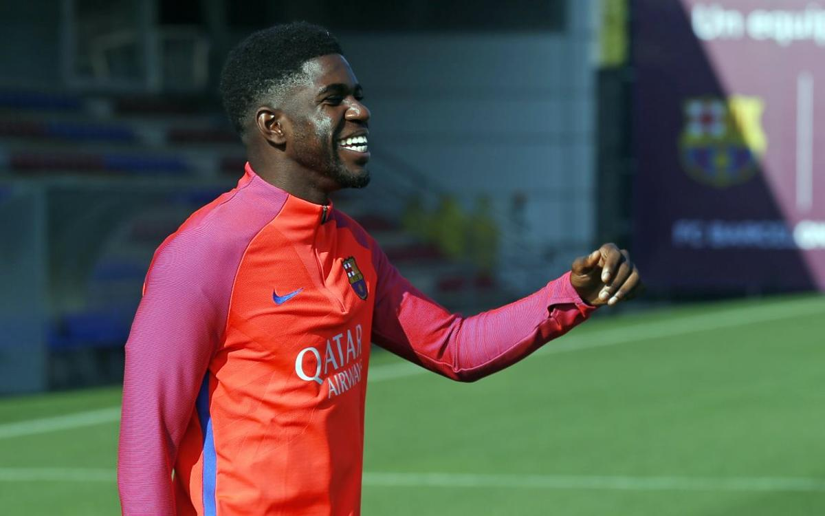 FC Barcelona's Samuel Umtiti, aka The Wall