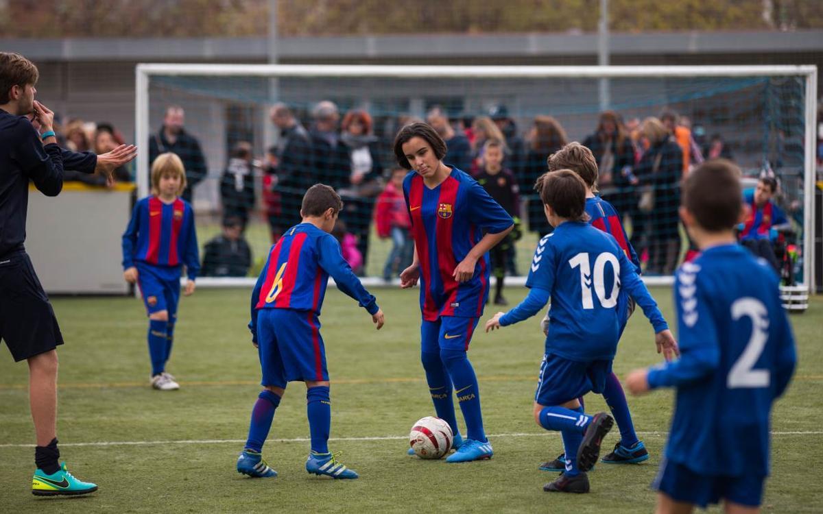 El planter del Barça fa costat al futbol inclusiu