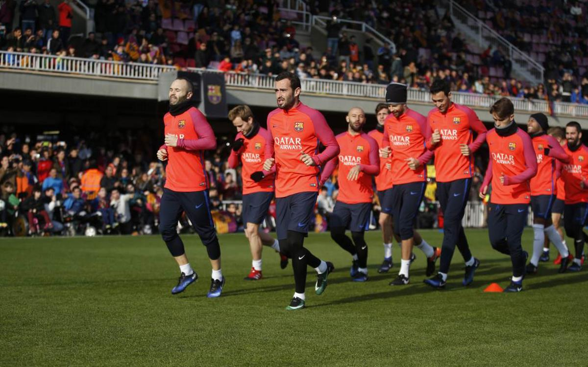 Festive open door training session to prepare for Copa del Rey match