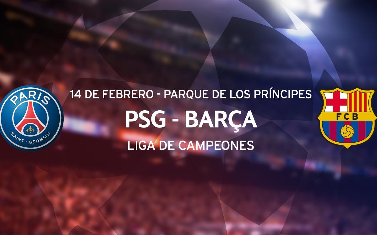 Entradas PSG - Barça de Liga de Campeones