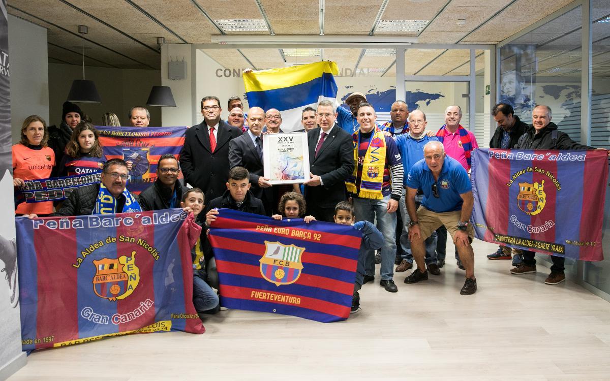 Actos previos al Barça - Las Palmas