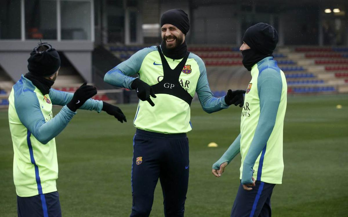 Last training session before Copa del Rey quarter-final second leg