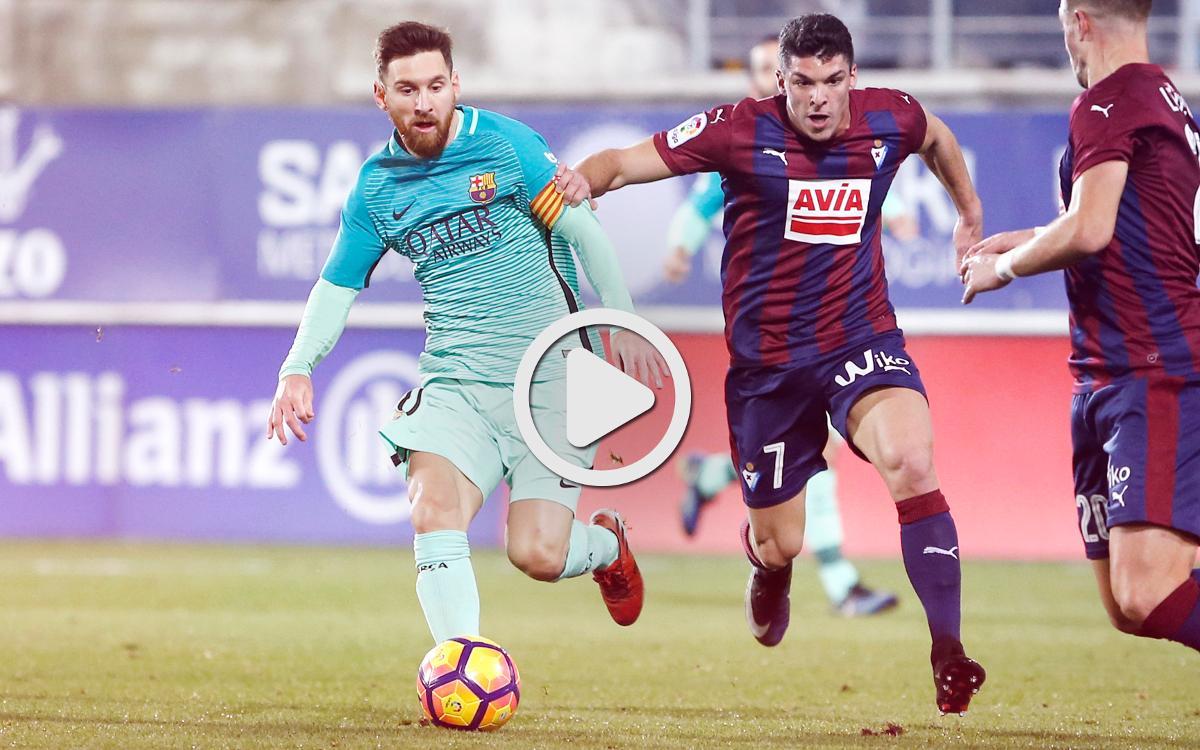 エイバル- FC バルセロナのリーグハイライト(0-4)