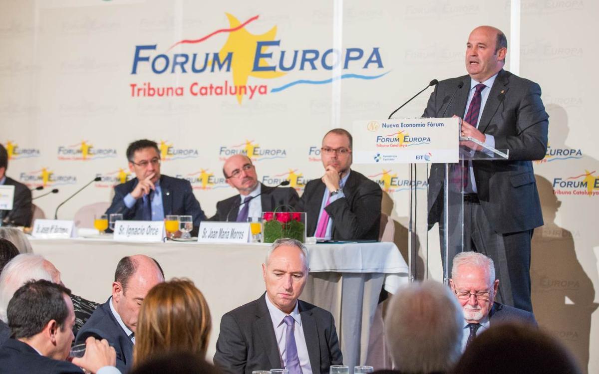 Òscar Grau presenta el Plan Estratégico del Club en el Fórum Europa. Tribuna Catalunya