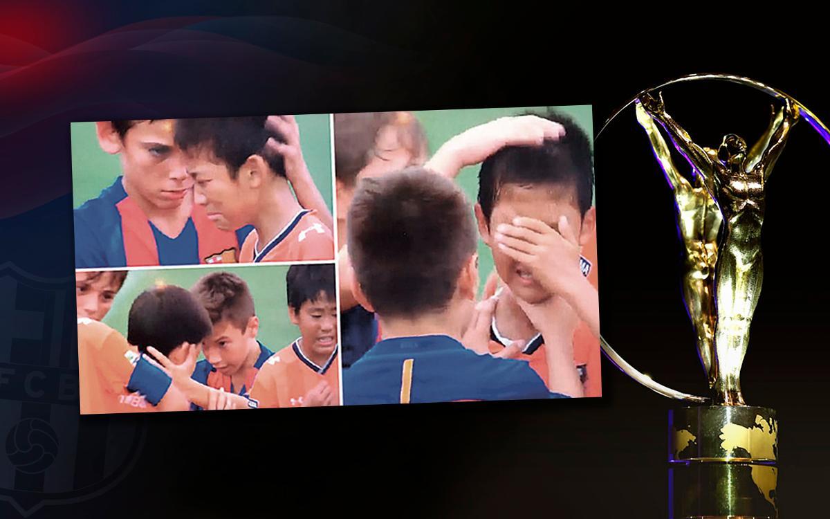 El gest de l'Infantil B, nominat al Premi Laureus 'Millor Moment Esportiu de l'Any'