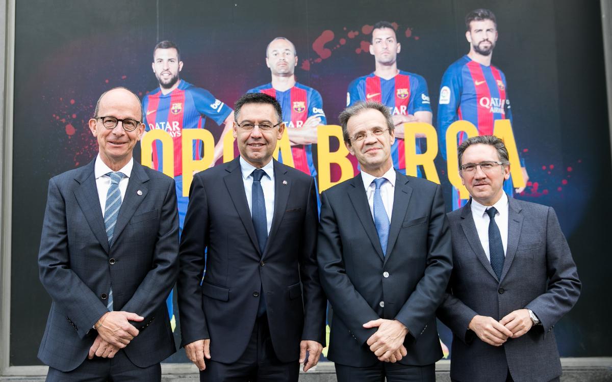 El FC Barcelona y la Fundación renuevan el acuerdo con Caixabank y la Fundación bancaria