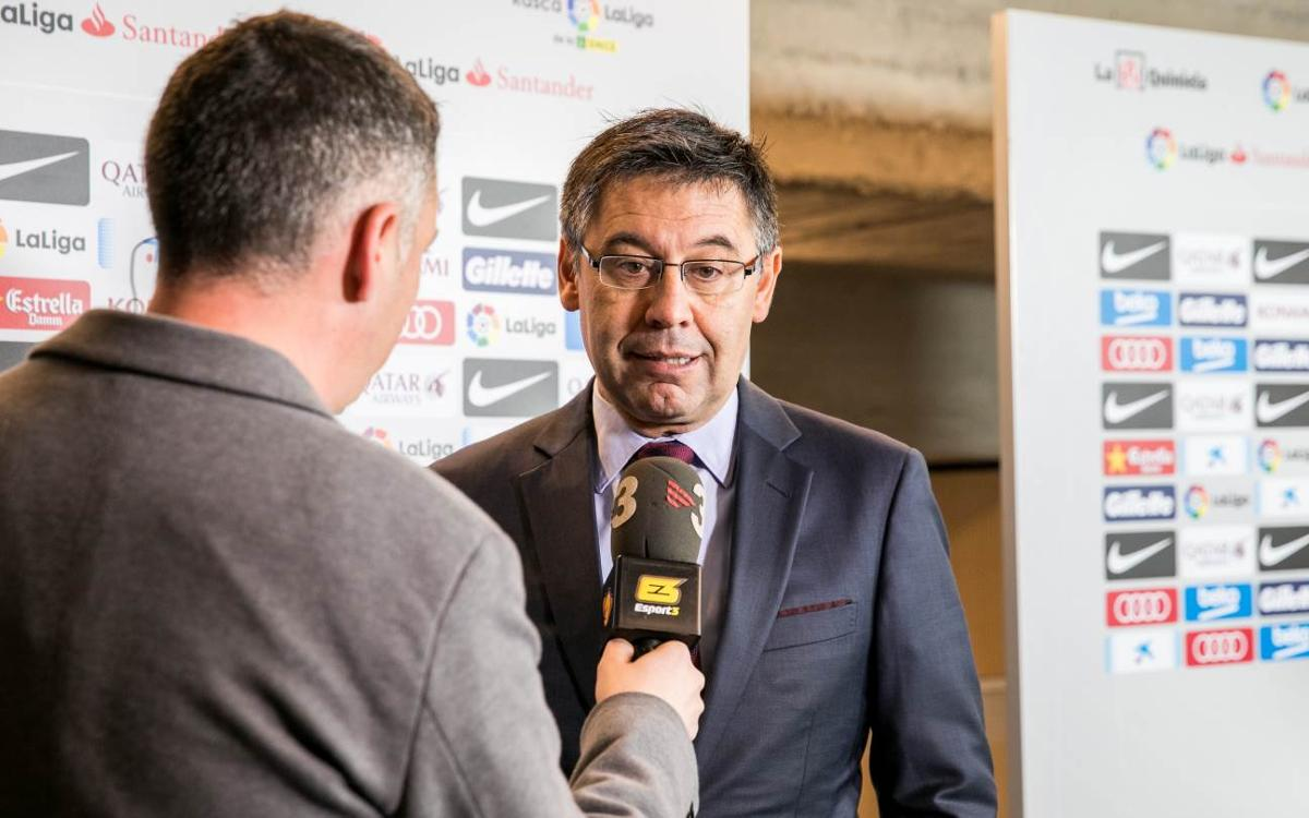 Bartomeu: Messi extending his contract is essential for the Club