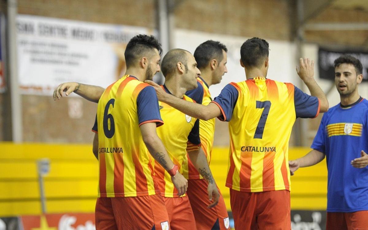 Una selección Catalana con raíces azulgrana