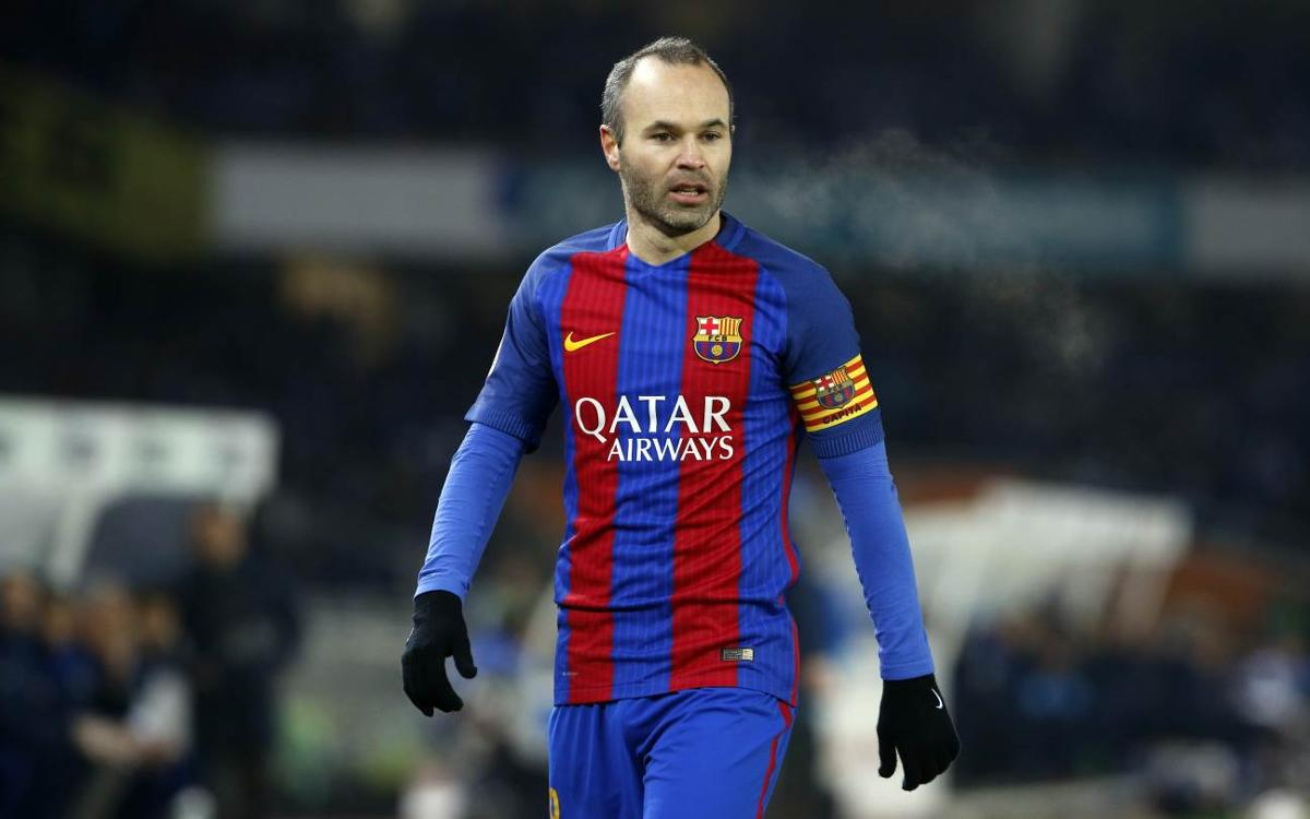Injured Andrés Iniesta to miss Eibar trip