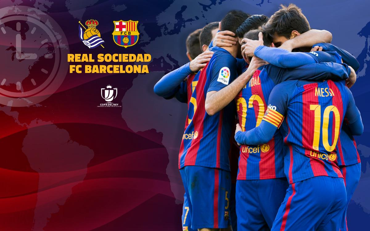 Where and when to watch Real Sociedad v FC Barcelona