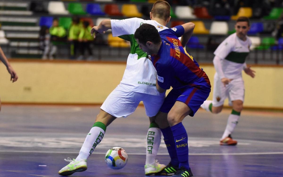 El Barça B posa el turbo a Elx (1-6)